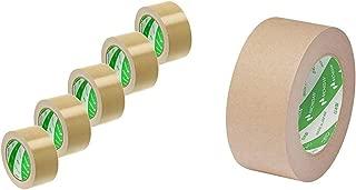 ニチバン 布テープ 50mm×25m 5巻パック 12150-5P 黄土 &  ラミオフ再生紙クラフトテープ 50mm×50m巻 3105-50 黄土