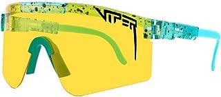 Pit Viper Gafas de sol para ciclismo al aire libre, Pit Vipers Gafas de ciclismo UV400 Deportes polarizados para hombres y mujeres, deportes al aire libre, golf, pesca, ciclismo, correr
