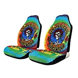 NA-1 Grate-ful Dead Dancing Bear Spiral Tie Dye Car Seat Cover Protector Cushion Premium Covers for Women, Men, Girls, Boys Fits Most Cars, Truck, SUV Or Van