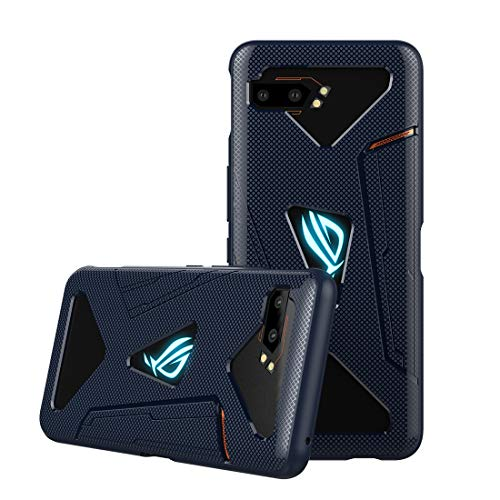 CRESEE ROG Phone 2 Hülle Hülle, Schutzhülle Soft Silikon Cover Bumper Stoßfest Handyhülle Fall für ASUS ROG Phone II (ZS660KL) 2019 Gaming Phone (Blau)