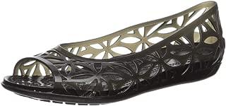 Crocs Women's Isabella Jelly II Flat Sandal Black, 6 M US
