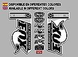 Ecoshirt, 8D-DZY7-T9HW, Pegatinas Fox Fork Evolution Fdp20 Stickers Aufkleber Decals Autocollants Adesivi, Gris