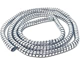 Motorcycle Cable Cover Spiral Wire CHROME 10mm x 1.5m Trike Quad ATV Easy Wrap