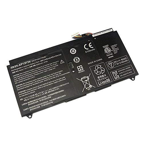 7xinbox 7.5V 47WH 6280mAh AP13F3N Replacement Laptop Battery for Acer Aspire S7-392 Ultrabook Series 2ICP4/63/114-2