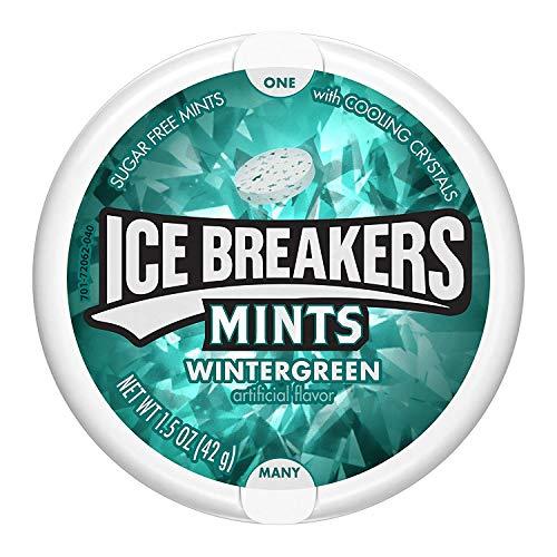 Ice Breakers Mints Wintergreen - Pfefferminz Bonbons, 1 Stück (42 g)