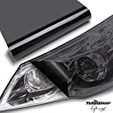 TECKWRAP ヘッドライトフィルム 浅黒(ライトブラック) 30cm×200cm アイラインフィルム テールランプフィルム グロス(艶有り) フィルム シート シールタイプ