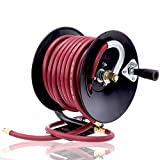 Goplus Air Hose Reel Hand Crank Metal Construction, Portable Compressed Air Hose...