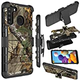 Zoeirc Galaxy A21 Case,Samsung A21 Holster Case,[Heavy Duty] Armor Shock Proof Dual Layer Phone Case Cover with Kickstand & Belt Clip Holster for Samsung Galaxy A21 (camo)