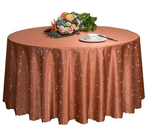 Black Temptation Hôtel Mariages Banquets Accessoires de Table Nappes Rondes Couverture de Table Brun Clair(200 * 200CM)