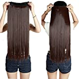 AASA Full Head Synthetic Fibre Clip in Hair Extensions for Girls and Women