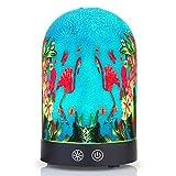 RPJC Diffuseur d'huiles Essentielles avec Fonction Humidificateur d'air frais éclairage LED à 7 couleurs et fonction éclairage de nuit 160 ml Motif Flamant Rose (Cuisine)
