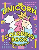 Unicorn Coloring Book for Kids Ages 4-8: Amazing Adorable Unicorns Rainbow Magical