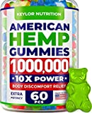 Hemp Oil Gummies - 1,000,000, 60PCS - Made in USA – Stress & Anxiety Relief - Natural Ingredients - Hemp Gummies with Omega 3-6-9 CO2 Extraction