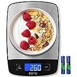 Amazon Brand - Eono bilancia digitale da cucina, 10 kg / 22 lb, peso in kg, grammi, libbre e once, per cucina,...