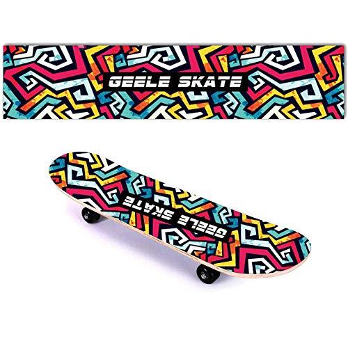 Skateboard Griptape, Selbstklebende Aufkleber DIY Persönlichkeit Schleifpapier Passt die Meisten Roller Outdoor Sports Supplies (Graffiti)