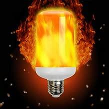 LED Flame Effect Light Bulb, Imenou e26/e27 LED Flickering Flame Light Bulbs 2835 LED Flashes Decorative Light Atmosphere Lighting Vintage Flaming Light for Bar Home Festival