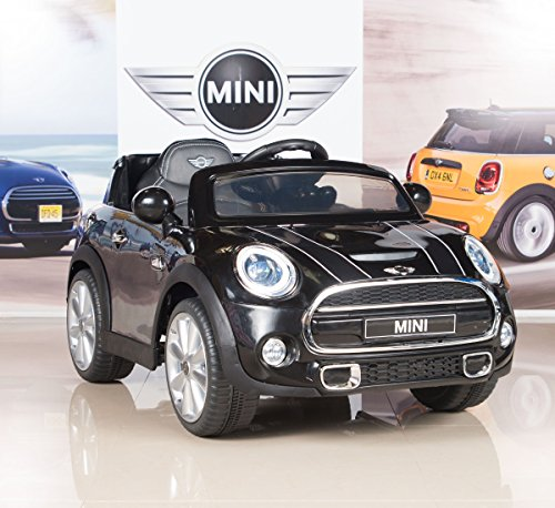 BIG TOYS DIRECT BigToysDirect 12V Mini Cooper Kids Electric Ride On Car with MP3 and Remote Control - Black