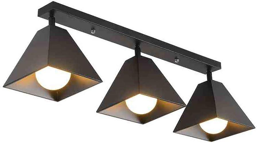 CSDM.AI Lumières De Plafond Simples, Moderne Lampe De Plafonnier Fer Forgé Lampe Polygonale pour Magasin De VêteHommests Corridor Couloir (Trois Tailles),noir,Threeheads