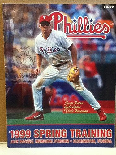 Phillies 1999 Spring Training Program: Jack Russell Memorial Stadium, Clearwater Florida
