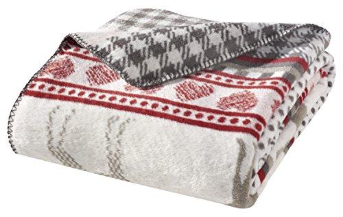 WOHNWOHL Kuscheldecke 150x200cm • weiche Tagesdecke • Sofadecke • Wohndecke • Schlafdecke • Ökotex Zertifizierte Baumwolldecke • Farbe: Hirsch