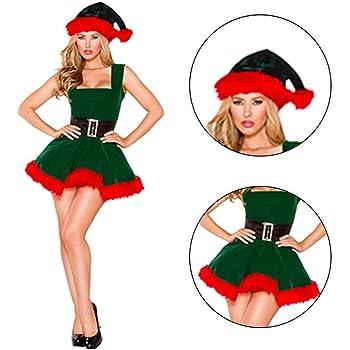 LeKing Disfraz de Disfraces de Santa de Navidad para Mujer Disfraces de Elfo de Santa Claus Disfraz de Fiesta de Cosplay: Amazon.es: Hogar