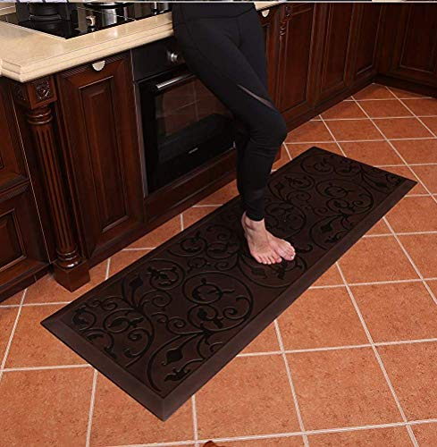 Amcomfy Premium Kitchen Anti Fatigue Mat,Comfort Floor Mats,Standing Mats,Antique Series (24 x 70 x...