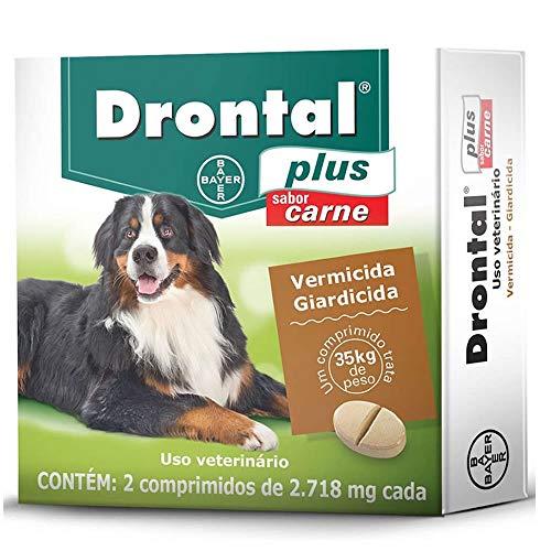 Vermífugo Bayer Drontal Plus Sabor Carne para Cães de até 35kg - 2 Comprimidos