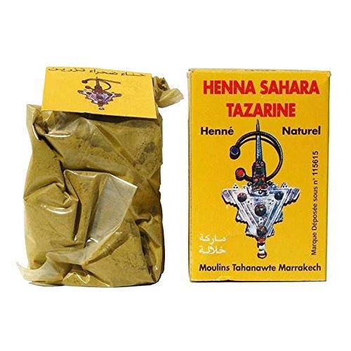 Henne Sahara Tazarine Henné 100% pur et naturel, pour la coloration de cheveux
