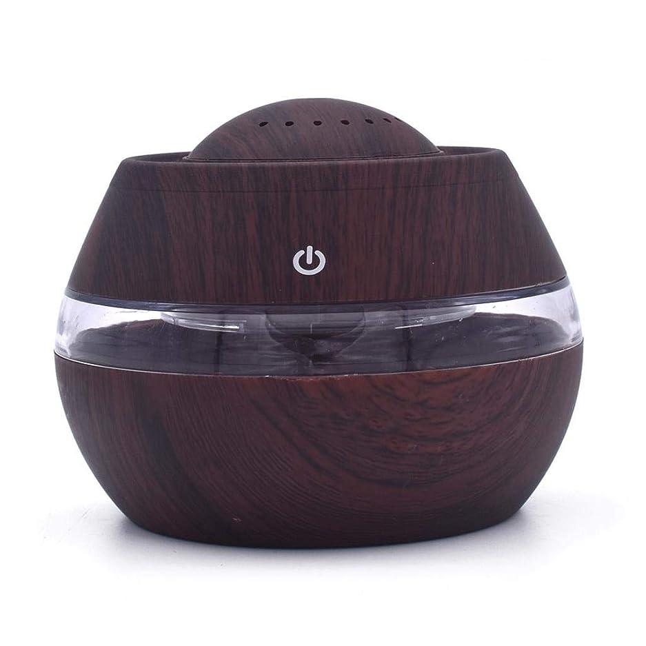 最後のロンドンヤギ芳香 拡張器 清涼 薄霧 加湿器 騒音36dB 以下 ミスト アロマ フレグランス 癒し リラックス 調光 LED 寝室 (Color : Dark wood)
