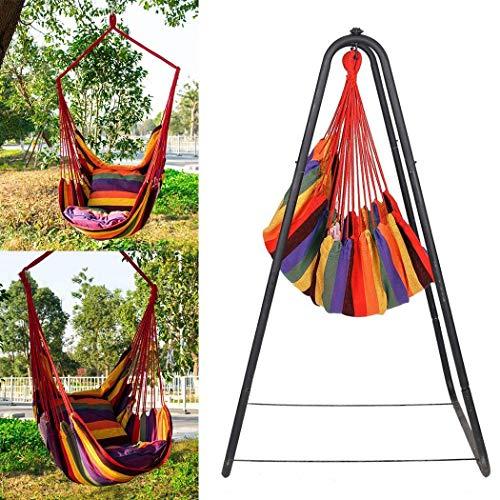 Bravet Canvas Swing Chair Hanging Rope Chair Garden Indoor Outdoor Hammocks