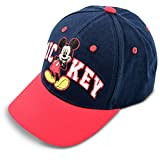 Disney Little Toddler Baseball Hat for Boy's Ages 2-7, Mickey Mouse Kids Cap, BabySunhat, Red/Blue, Age 4-7 Years