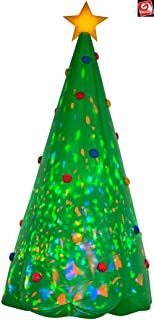 AIR CHARACTERS 8' Gemmy Airblown Kaleidoscope Inflatable Christmas Tree Yard Decoration 89776
