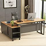 Tribesigns Large L-Shaped Desk, 55 Inches Executive Office Desk Computer Table...