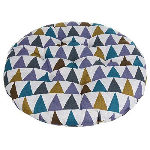 feilai Cojín redondo de lino y algodón redondo para silla de oficina, cojín más grueso (color: 6)