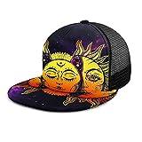 Gorra de béisbol Hippie Boho Sol y luna Gorras de béisbol psicodélicas Sombrero de camionero Verano Sol Deportes Sombreros Snapback al aire libre
