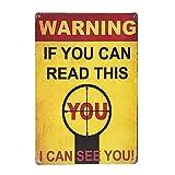yunuo Cartel de advertencia de metal estaño decoración placa vintage decoración de pared (01)