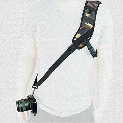 NEOpine - Tracolla per fotocamera Canon Nikon Olympus Pentax Panasonic Sony Dslr ecc. Fotocamera digitale Sport Camera - Camouflage Forest