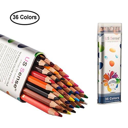 US Sense 36 Farben Buntstifte mit Farbstifte Kunst Set,Sechskant,für Erwachsene Color Pencil Klein und Groß zum Malen, Ausmalen, Skizzieren oder Colorieren Geschenk Für Hobbykünstler und Kinder