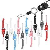 BITEFU 12 Stück Handy Schlüsselbänder,Long Umhängeband mit Abnehmbare Sicherheitsschnalle für Mobile,USB-Stick,Büro ID Karte(6 Farben)