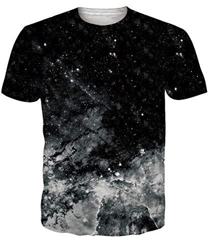 Camiseta Casual para Hombre Camiseta de Verano Camiseta de Manga Corta para Perros Top Negro