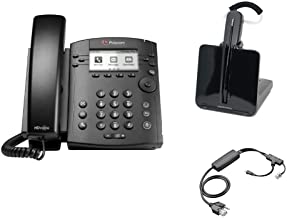 $269 » Polycom VVX310 VoIP Desk Phone Bundle with Professional Wireless Headset, Remote Answering Accessory- Includes VVX310, Pla...