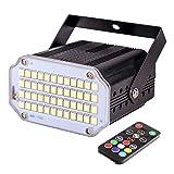 LED Lumière stroboscopique avec télécommande, 48 Pcs Couleur Stroboscope Lampe, Lumière Clignotante Super Lumineuse, Lumières pour Disco,Fête