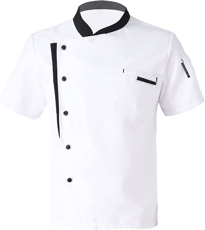 Moily Men Women Chef High quality new Coat Sleeve Restau Cooker Short 1 year warranty Jacket