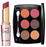 Lakme 9 to 5 Primer with Matte Lip Color, MP7 Rosy Sunday, 3.6g And Lakme Absolute Illuminating Eye Shadow Palette, French Rose, 7.5g