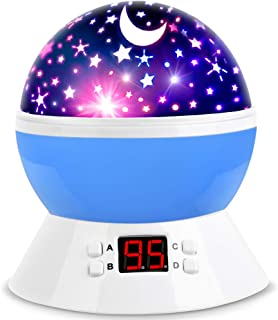 MOKOQI Star Projector Night Lights for Kids with Timer, Gifts for 1 – 14 Year Old..