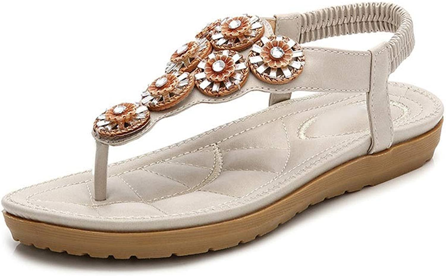 WENNEW Summer Bland Beaded Bohemian Sandals
