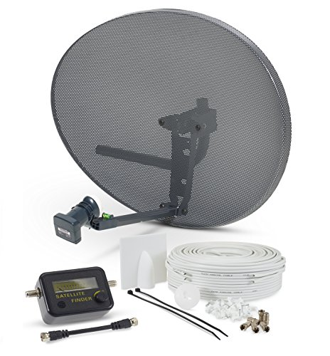 SSL Satellites Zone 2 Quad Satellite Signal Finder Twin 5 Meter Black Cable FTA LNB Signal Pointer...