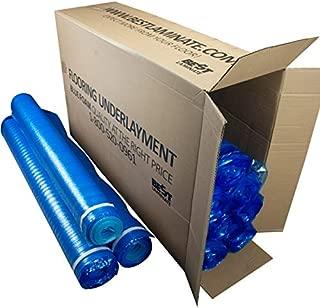Bestlaminate 3in1 Basic Vapor Barrier Flooring Underlayment w/Overlap and Tape 1000sq.ft (10 Rolls x 100sf)