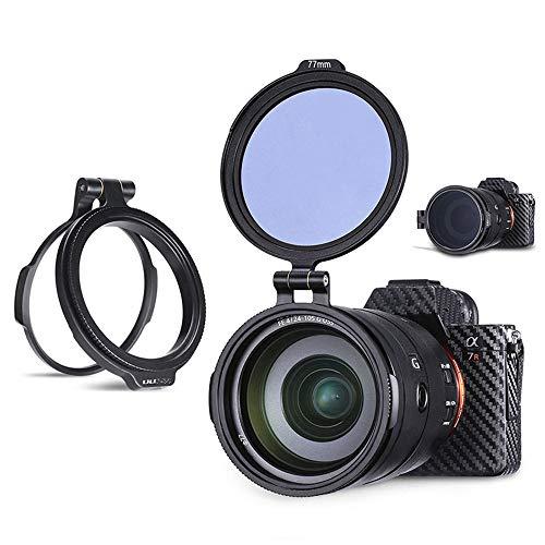 Linghuang ULANZI Schnell Filter System Aluminium Kamera Objektiv ND Filter Mount Halterung (82mm)