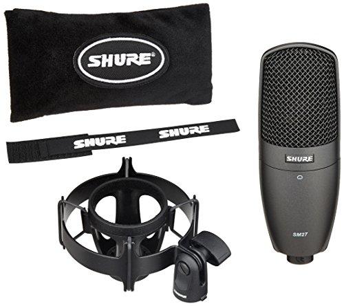 Shure Multi-Purpose Condenser Microphone, Black (SM27-SC)